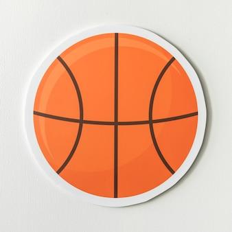 Papel artesanal de una bola de basket.