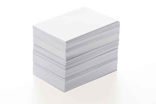 Papel blanco en blanco