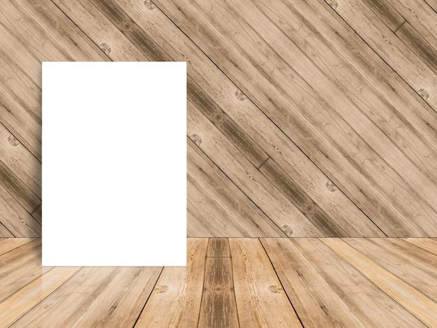Papel en blanco sobre una superficie de madera