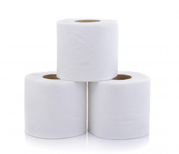 Papel higiénico simple aislado