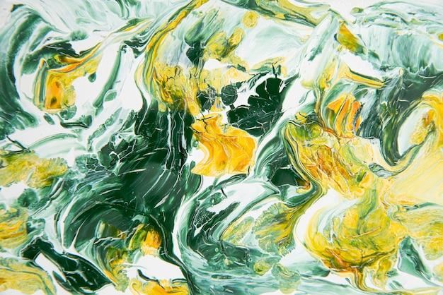 Papel pintado de pintura acrílica de vista superior