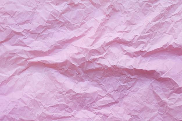 Papel de reciclaje arrugado rosa