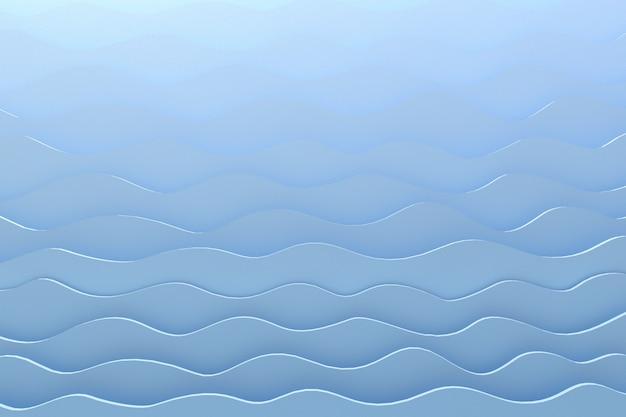Papel de renderizado 3d corte onda patrón gris telón de fondo