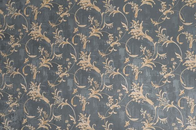 Papel tapiz floral antiguo ornamento vintage retro en el fondo. patrón floral lindo adorno. diseño de pared de fondo. papel pintado vintage