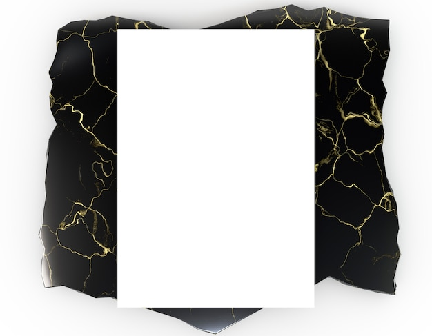 Papelería corporativa en blanco en mármol de lujo