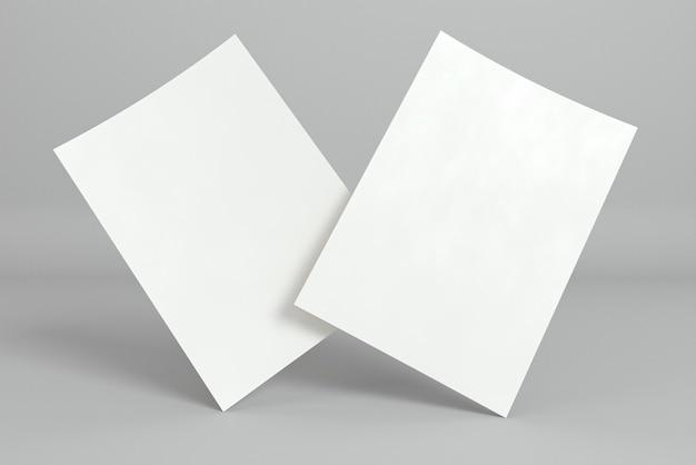 Papelería corporativa tarjetas de visita en blanco posición abstracta