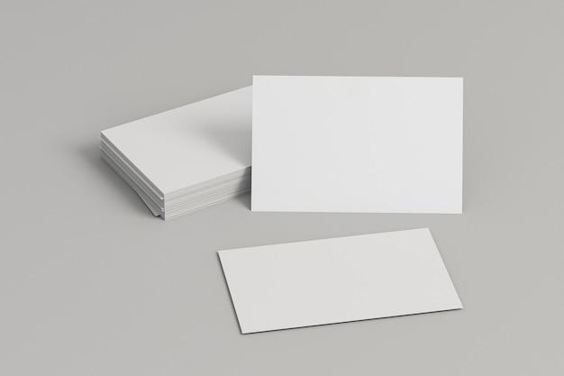 Papelería corporativa tarjetas de visita en blanco vista frontal
