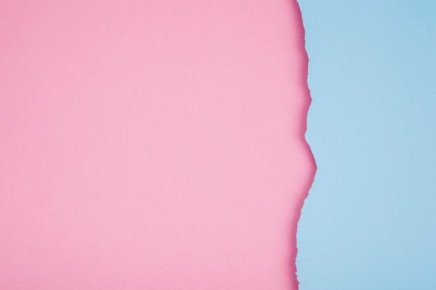 Papeles rasgados de colores pastel