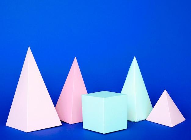Paquete de objetos de papel geométrico