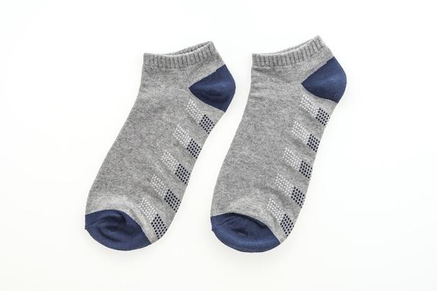 Par de calcetines azules y grises