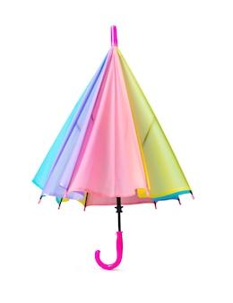 Paraguas de colores pastel aislado sobre fondo blanco.