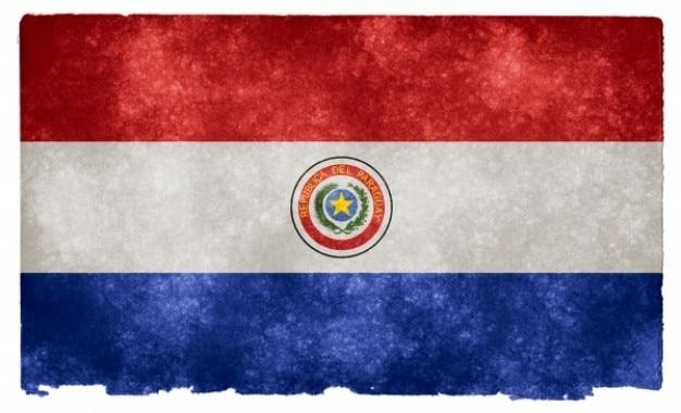 Paraguay grunge bandera