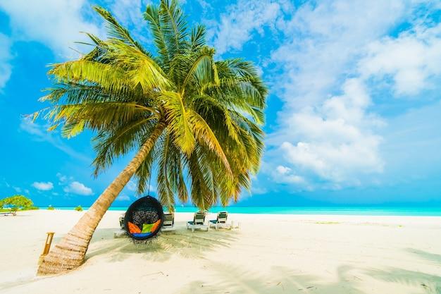 Paraíso de la naturaleza del paisaje del caribe maldivas