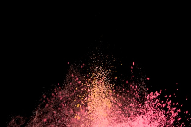 Parche brillante de partículas finas de colores