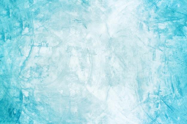 Pared azul de cemento y sala de exposición de fondo para producto de presentación