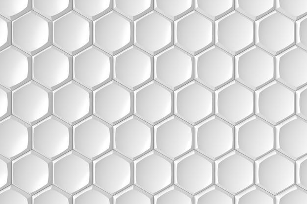 Pared de azulejos hexagonales modernos. representación 3d