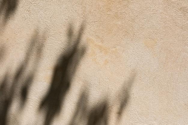 Pared de cerca con una sombra.