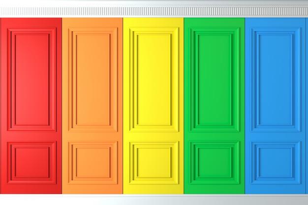 Pared clásica de paneles de pared multicolor.