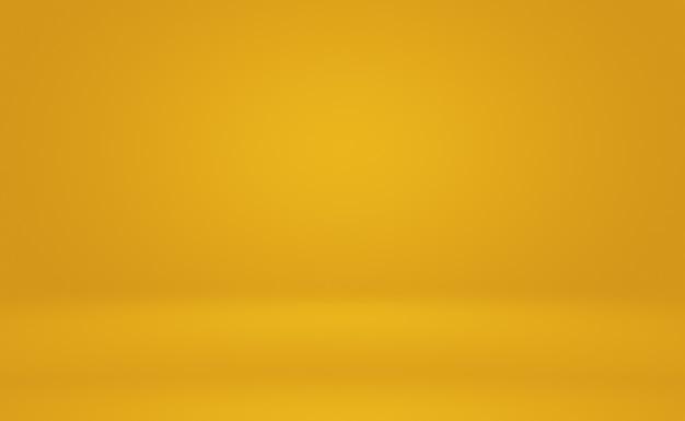 Pared de estudio degradado amarillo oro de lujo abstracto, bien uso como fondo, diseño, banner y presentación del producto.