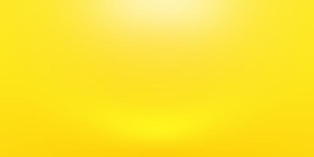 Pared de estudio degradado amarillo oro de lujo abstracto, bien uso como fondo, diseño, banner y presentación del producto. Foto gratis