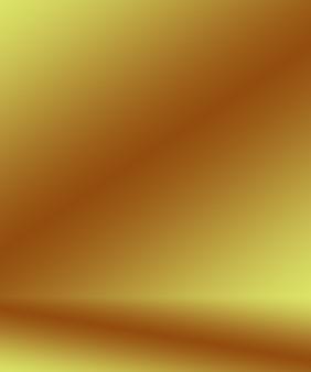La pared de estudio de gradiente amarillo dorado de lujo abstracto se usa bien como banner de fondo y diseño de producto ...