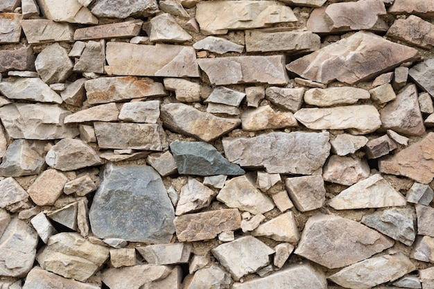 Pared hecha de piedras