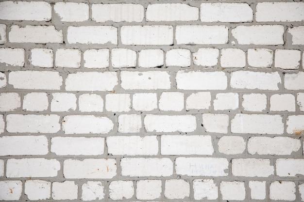 Pared de ladrillo blanco para fondo o textura