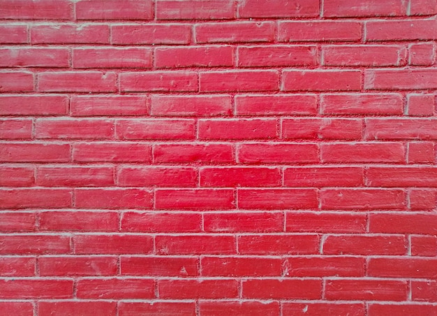 Pared de ladrillo rojo