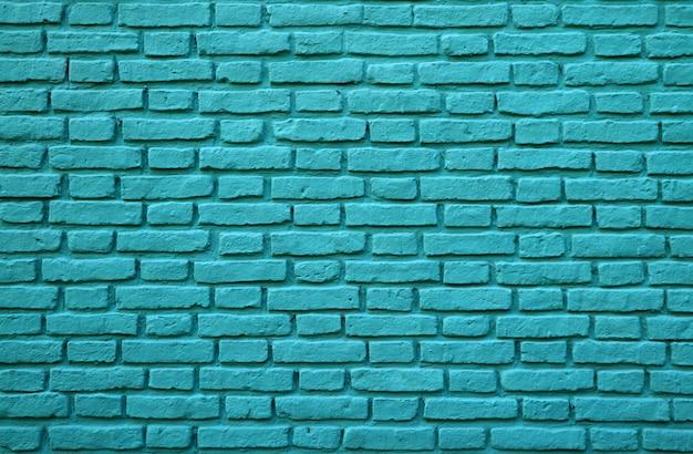 Pared de ladrillos de color turquesa en la boca, en buenos aires, argentina, para fondo, textura o patrón