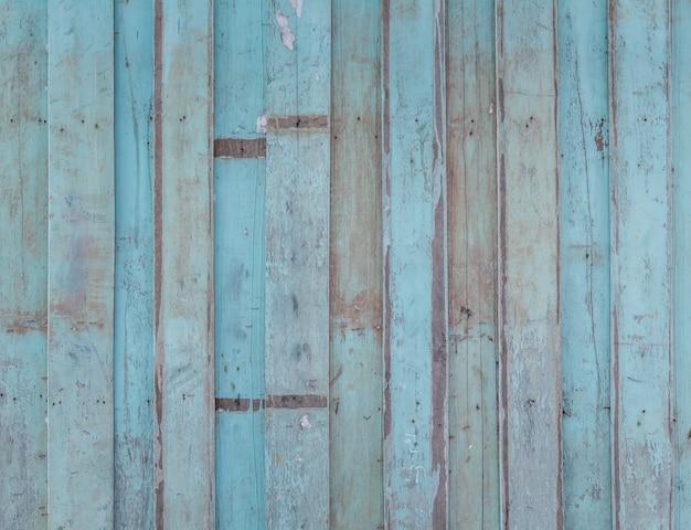 Pared de madera azul estropeada