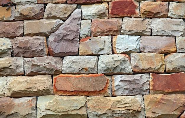 Pared de piedra moderna