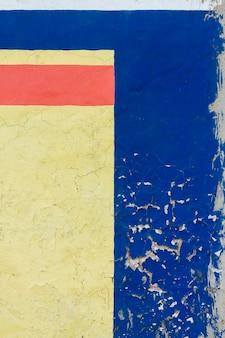 Pared pintada vintage en tres colores