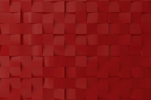 Pared roja del color 3d para el fondo