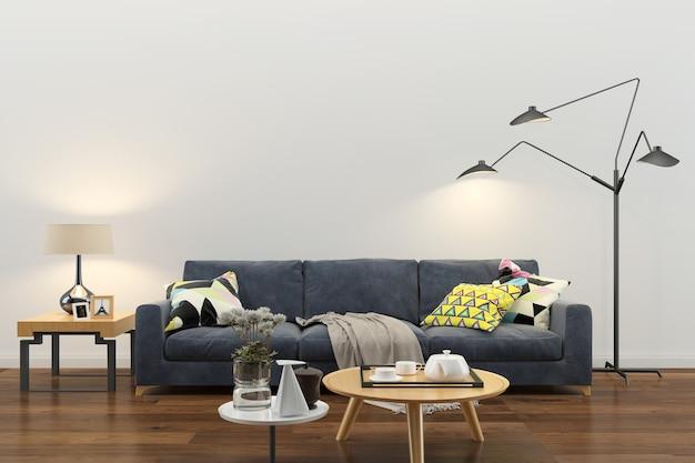 Pared textura de fondo madera mármol piso sofá silla lámpara