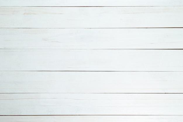Pared de textura de madera blanca, vista superior de la mesa de madera