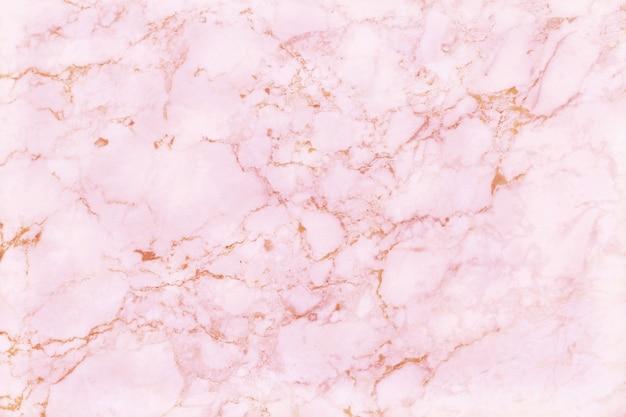 Pared de textura de mármol de oro rosa con alta resolución para decoración de interiores. piso de baldosas de piedra en patrón natural.