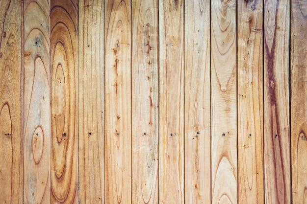 Pared de la valla marrón amarillo de fondo de tableros de madera vertical natural
