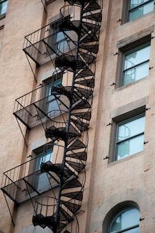 Paredes exteriores de edificios en boston, massachusetts, estados unidos