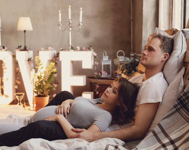 Pareja embarazada