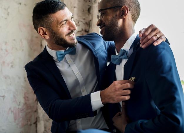 Pareja gay juntos amor