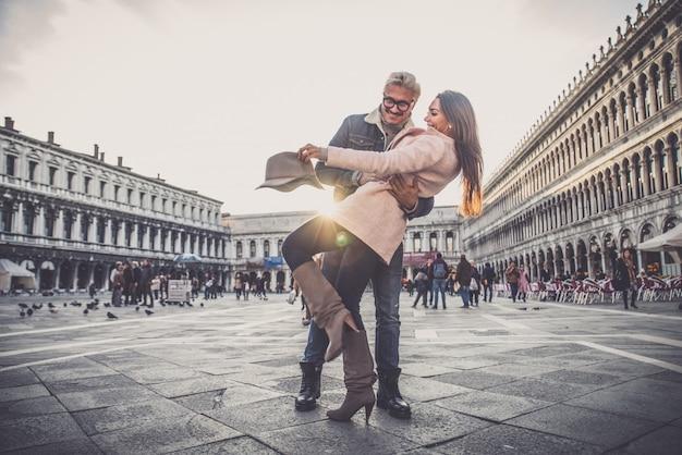 Pareja en venecia