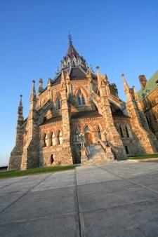Parlamento canadiense biblioteca hdr