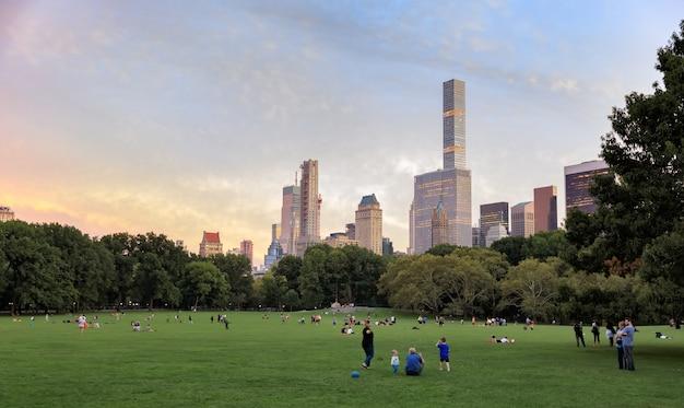 Parque central de la ciudad de nueva york