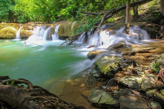 Parque nacional de la cascada de chet sao noi en tailandia