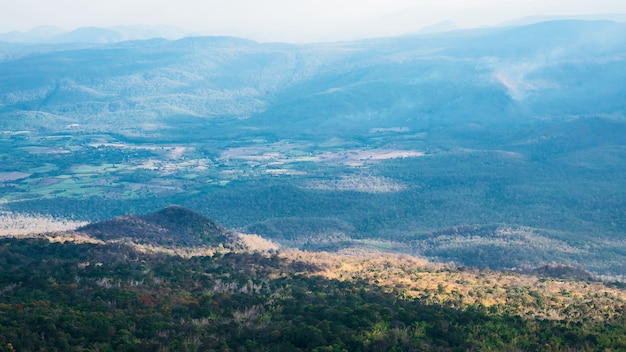 Parque nacional phu kradueng, tailandia.