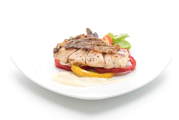 Parrilla filete de pescado con vagable