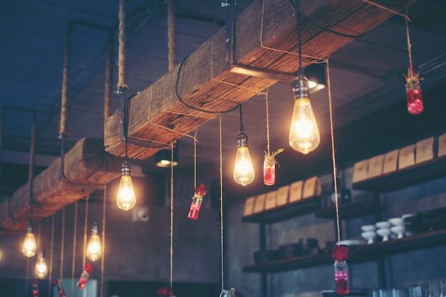 Parte de la cafetería de café vintage, cafetería