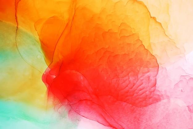 Parte de la pintura original de tinta de alcohol, fondo abstracto