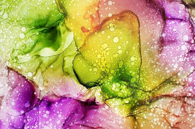 Parte de la pintura de tinta de alcohol original, fondo abstracto