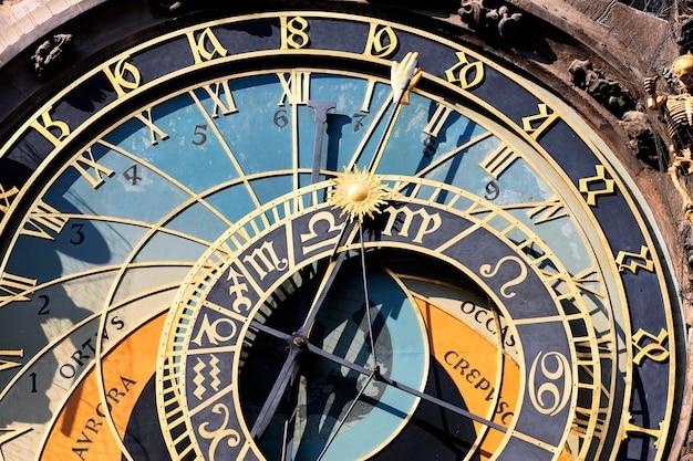 Parte del reloj zodiacal de la ciudad de praga